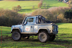 Off roading Land Rover Royalty Free Stock Photography