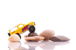 Off-Roading Maneuver on Rocks Royalty Free Stock Photo