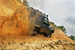 Off roading thrill. 4х4 Off roading thrill in the sand Stock Images