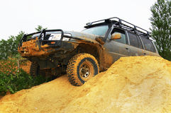 Off roading thrill. 4х4 Off roading thrill in the sand Royalty Free Stock Photo