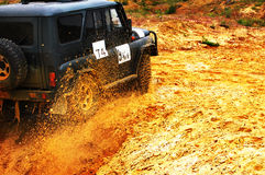 Off roading thrill Stock Image