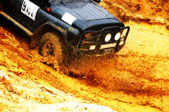 Off roading thrill. 4x4 Off roading thrill in the mud Stock Image