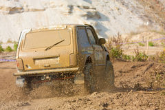 Off roading thrill. 4x4 Off roading thrill in the mud Stock Photos
