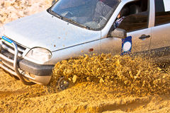 Off roading thrill. 4x4 Off roading thrill in the mud Royalty Free Stock Photos