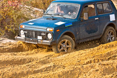 Off roading thrill. 4x4 Off roading thrill in the mud Stock Photography