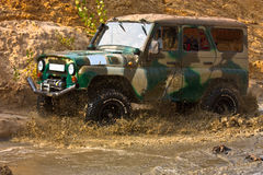 Off roading thrill. 4x4 Off roading thrill in the mud Stock Photo