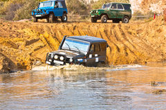 Off roading thrill. 4x4 Off roading thrill in the mud Stock Images