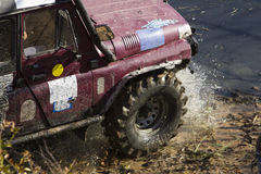 Off roading thrill. 4x4 Off roading thrill in the mud Royalty Free Stock Images