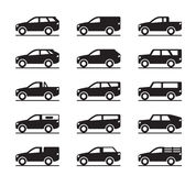 Off roads and sport utility vehicles. Vector illustration Stock Image
