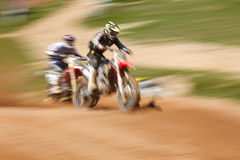 Off-rod motorbike riding fun. Speed blurred motion Royalty Free Stock Images
