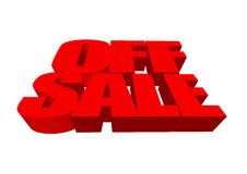 Off sale. Sale illustration Royalty Free Stock Photo