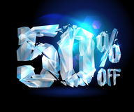 50 % off sale coupon ice. Royalty Free Stock Photography