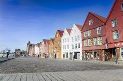 Off season at Bryggen, Bergen in Norway Royalty Free Stock Photo