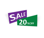 20% Off. Sell purple and green Royalty Free Stock Photos