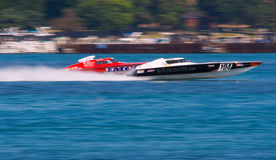 Off-Shore Boat Racing Royalty Free Stock Photos