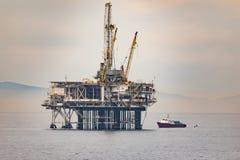 Off Shore Drilling rig Huntington Beach California Stock Images