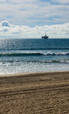 Off Shore Oil Platform. Oil platform located off shore of Huntington Beach, California Royalty Free Stock Image