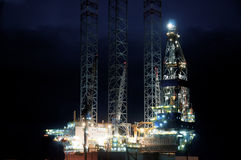 Off shore oil rig Royalty Free Stock Photo