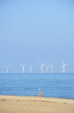 Off shore wind farm in portrait Stock Image