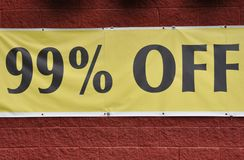 99% off sign Stock Photography
