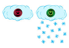 On and off snow cloud Royalty Free Stock Photo