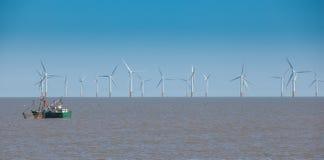 Off sure wind turbine Stock Photos