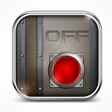 Off switch button Royalty Free Stock Photos