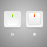 On and Off switch buttons Stock Photography