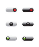 On Off switch buttons Stock Images