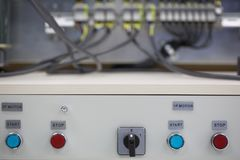 On / off switch control panel Royalty Free Stock Photography