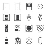On/Off switch icon set royalty free illustration