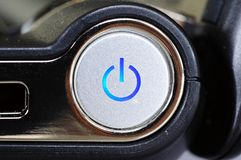 On and off switch on netbook. Stock Photo