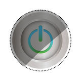 On off switch power. Icon  illustration graphic design Royalty Free Stock Photos