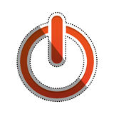 On off switch power. Icon  illustration graphic design Stock Photos