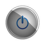 On off switch power. Icon  illustration graphic design Stock Photography