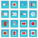 On off switch web buttons icon blue app Stock Photos