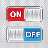 On Off Switch Web style Vector Royalty Free Stock Image