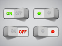 On and Off switches. Stock Photo