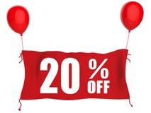 20%off sztandar Fotografia Stock