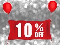 10%off sztandar Zdjęcie Royalty Free