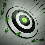 Off Target Shows To Miscalculate Skill Royalty Free Stock Images