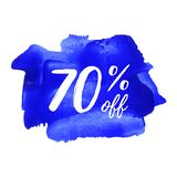 70% OFF  text, logo, card, poster, word, written on painte Royalty Free Stock Photos