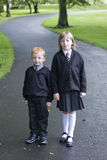 Off to school. Children going to school and ready to learn Royalty Free Stock Image