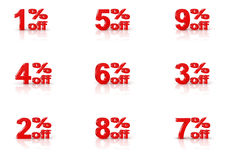 1-9% off Royalty Free Stock Photos