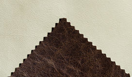 Off white leather and aged leather Royalty Free Stock Images