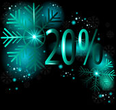 20% off on Winter Sale. Winter vector Stock Photos