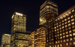 Offcie principal de HSBC no cais amarelo Foto de Stock Royalty Free