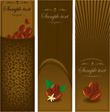 Сoffee banners. Royalty Free Stock Photo