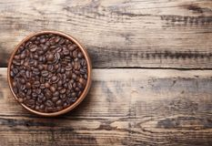 Сoffee. A drink made from the roasted and ground beanlike seeds of a tropical shrub, served hot or iced Royalty Free Stock Photography
