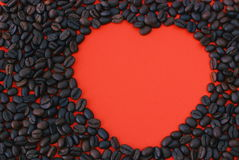 Сoffee heart. Coffee is a heart falling in love Royalty Free Stock Photo